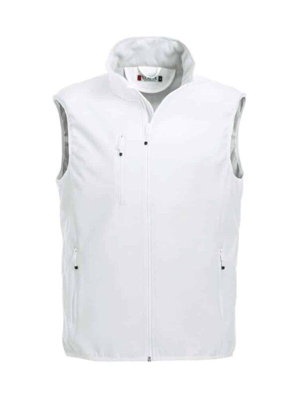 Basic Softshell Vest Herre Hvid 3XL