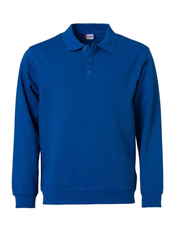 Basic Polo Sweater Royal 3XL