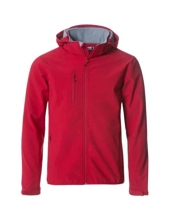 Basic Hoody Softshell jkt Rød 3XL