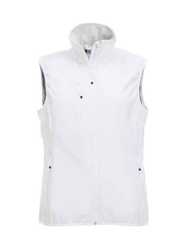 Basic Softshell Vest Dame Hvid XL